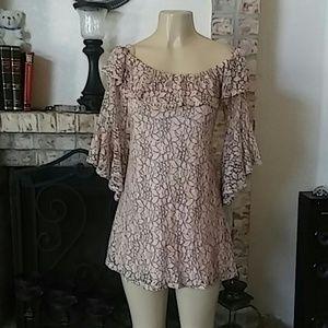 June & Hudson Casual Lace Dress/Blouse